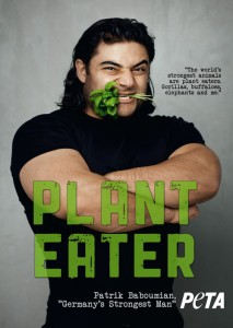 The world's strongest man, Patrick Baboumian, is vegan.