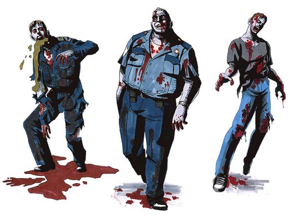 Zombie Police - resident evil