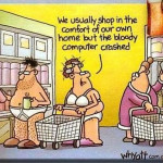 shopping in underwear cartoon