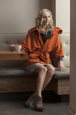 Synergy cotton organic cape jacket