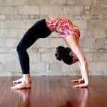 backbend yoga pose woman