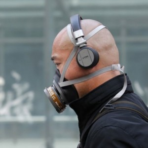 man wearing mask in Beijing