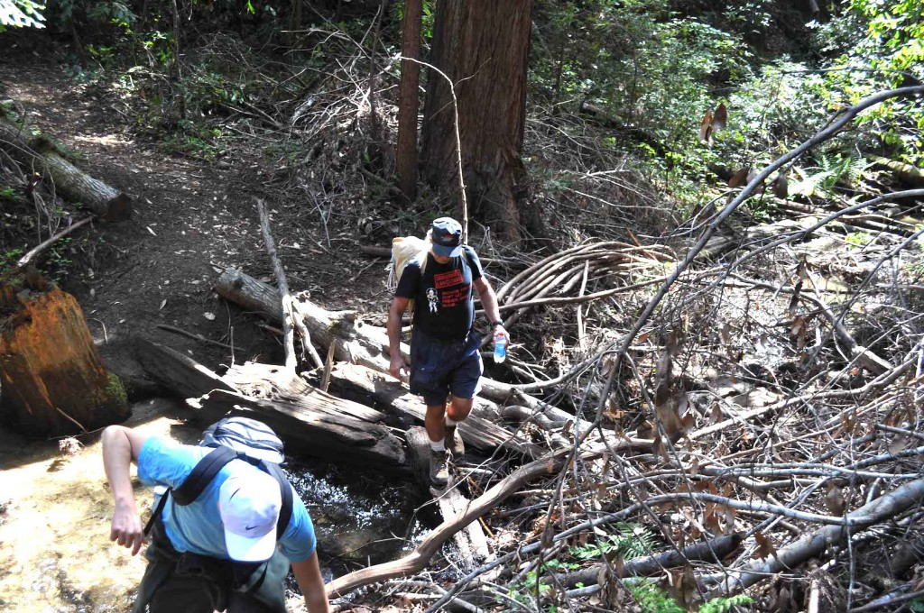 Hikers crossing stream Miriam Nuney DSC_0352