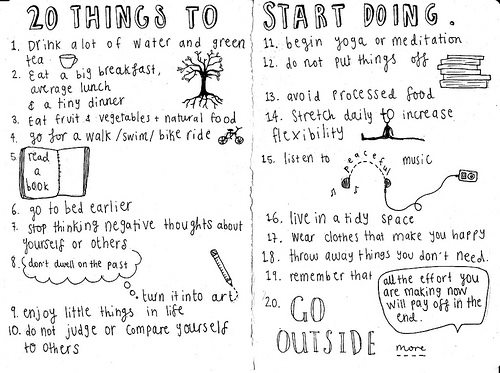 list of things to start doing