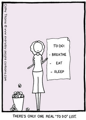funny to do list cartoon