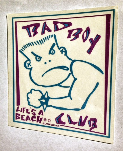 "Bad Boy Club original logo design by Mark ""Boogaloo"" Baagoe."