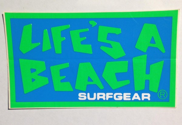 "Life's a Beach original logo design by Mark ""Boogaloo"" Baagoe."