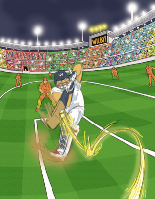 Content Marketer, Wilby, pays cricket in India.