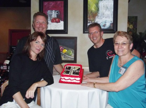 Bridget Callaghan, Michael Ray King, Jeff Swesky and Nancy Quatrano at a Method Writers book launch event in Palm Coast, FL in October 2012
