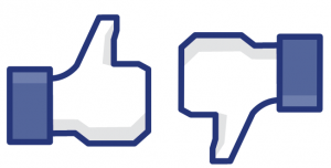 Please like me on Facebook. like dislike button Opposite Day