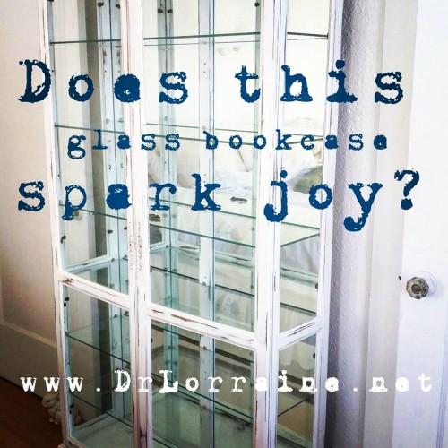 spark joy glass bookcase konmari marie kondo