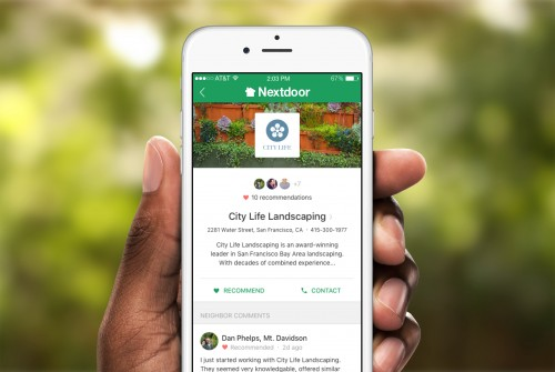 business profile reviews Nextdoor