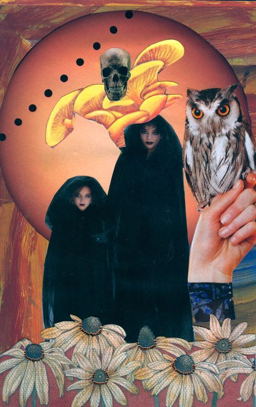 Halloween fear SoulCollage death haunt heal meditation collage
