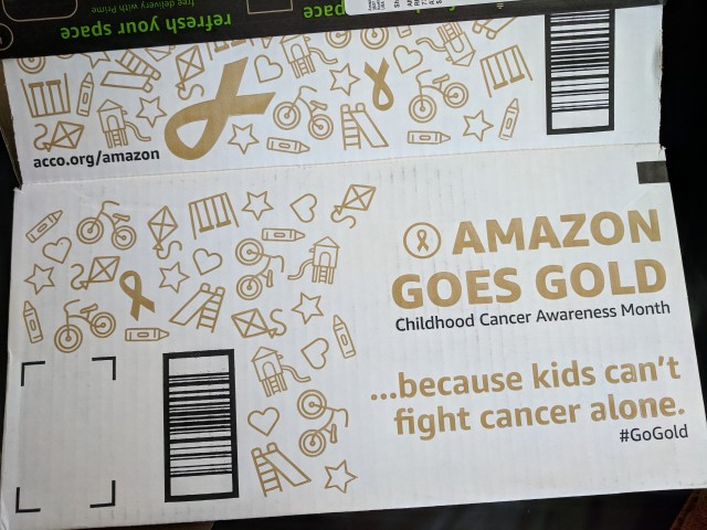 Amazon Goes Gold because kids can't fight cancer alone.