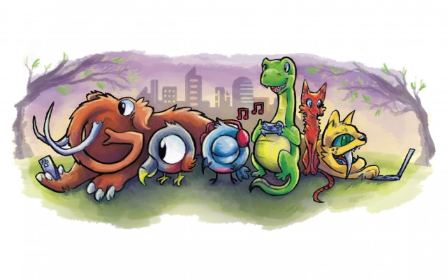 Doodle for Google competition winner logo extinct animals