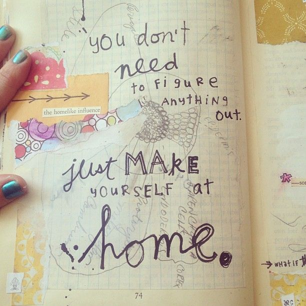 journal art collage home